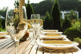 A laid table Stock Images