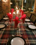 Laid table for Christmas evening Stock Image