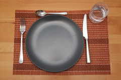 A laid table. In the fasting time Royalty Free Stock Photos