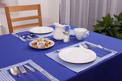 Laid table Stock Photos