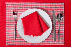 Laid table in red colour Stock Image