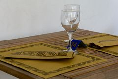 Laid table in a restaurant Royalty Free Stock Photo