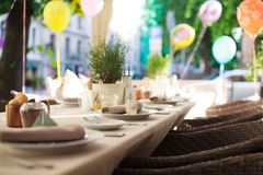 Laid table Stock Photography