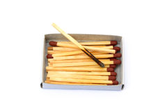 Laid used matchsticks Royalty Free Stock Photos