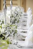 Laid wedding table Royalty Free Stock Photos