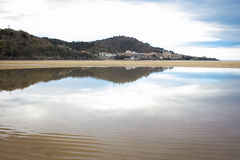 Laida strand spain royaltyfria bilder