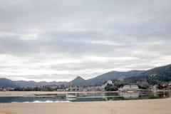 Laida strand spain royaltyfria foton
