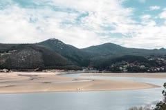 Laida strand spain arkivfoton
