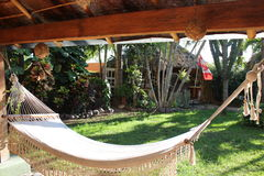 Laidback Hammock. A lazy place to spend time in Mexico - a hammock Stock Images
