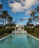 Laie Hawaii tempel Arkivbild