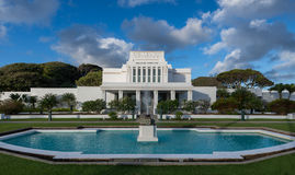 Laie Hawaii tempel Royaltyfria Foton