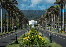 Laie Hawaii tempel Arkivbilder