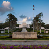 Laie Hawaii Temple stock photo