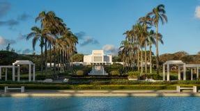Laie Hawaje świątynia zdjęcie royalty free