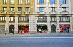 Laietana, Barcelona street Royalty Free Stock Image