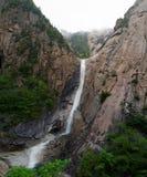 Laika ac Kuryong Waterfall, DPRK (North Korea). Laika ac Kuryong Waterfall  in Kumgangsan mountains in North Korea (DPRK Royalty Free Stock Photo