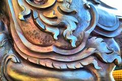 Laikanok. Thai design pattern of drawing engraving Royalty Free Stock Photos