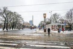Laima klocka i Riga, Lettland Royaltyfri Fotografi