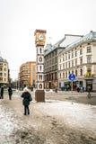 Laima-Uhr in Riga, Lettland Lizenzfreies Stockbild