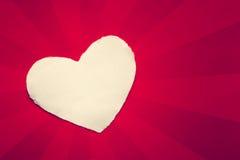 Laine blanche de coeur sur le papier Photos libres de droits