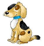 Laine de collier de formation de garde d'ami de chien Photos libres de droits
