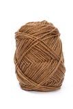 Laine de fil de Brown pour le tricotage Images libres de droits