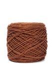 Laine de fil de Brown pour le tricotage Photographie stock libre de droits