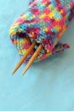 Laine de tricotage photo stock