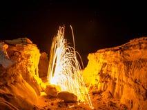 Laine en acier tournant - roches du Colorado Images libres de droits