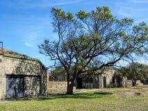 Laine historique Virginia Architecture de fort Images stock