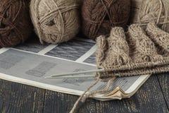 Laine mérinos naturelle pour le tricotage Images libres de droits