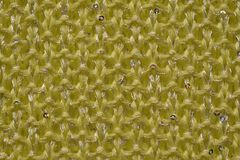 Laine tricotée par jaune Images stock