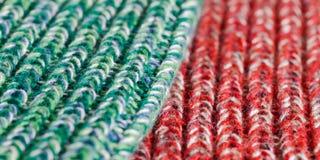 Laine verte et rouge Photographie stock libre de droits