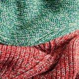 Laine verte et rouge Photo libre de droits