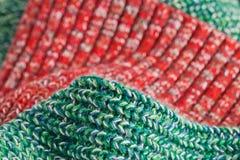 Laine verte et rouge Photographie stock