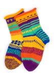 laines d'isolement de blanc de chaussettes photographie stock