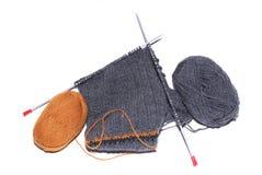 Laines de tricotage Images libres de droits