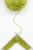 Laines de tricotage Image stock