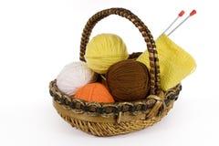 laines de tricotage Photo stock