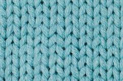 Laines tricotées bleues Image stock