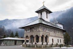 Lainici, orthodox Roemeens klooster Royalty-vrije Stock Afbeeldingen