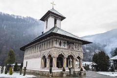 Lainici, orthodox romanian monastery Royalty Free Stock Images