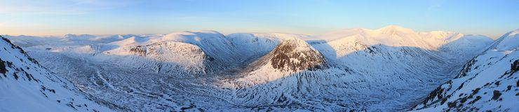 Lairig ghru, cairngorms national park panoramic Royalty Free Stock Image