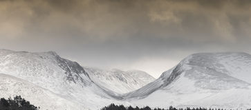 Lairig Ghru Pass in the Cairngorms Mountains in Scotland. Stock Image