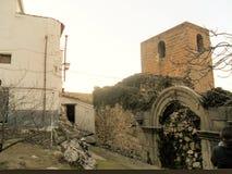 LaIruela-toppiga bergskedjan de Cazorla-Jaen-slott fördärvar arkivfoto
