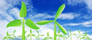 Laisse l'énergie éolienne Photo stock
