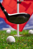 Laisse la pièce un parcours de golf ! Photographie stock