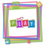 Laisse le cadre coloré de jeu Images libres de droits