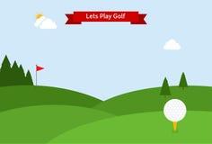 Laisse le golf de jeu Images stock