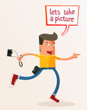 Laisse prendre une photo Images libres de droits